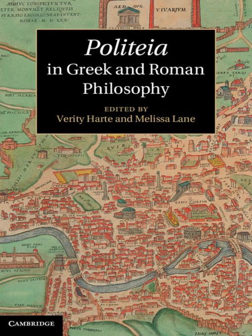 Politeia in Greek and Roman Philosophy (eBook)