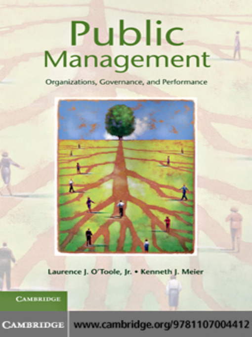 Public Management: Organizations, Governance, and Performance (eBook)