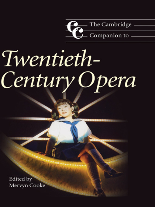 The Cambridge Companion to Twentieth-Century Opera (eBook)
