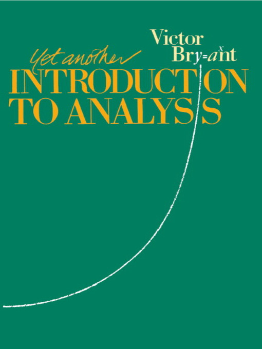 Yet Another Introduction to Analysis (eBook)