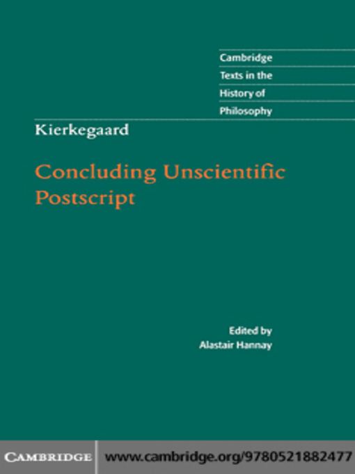 Kierkegaard (eBook): Concluding Unscientific Postscript