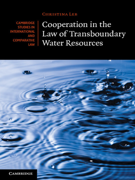 Cooperation in the Law of Transboundary Water Resources (eBook)