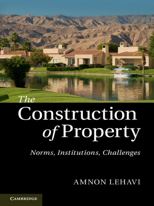 The Construction of Property (eBook)
