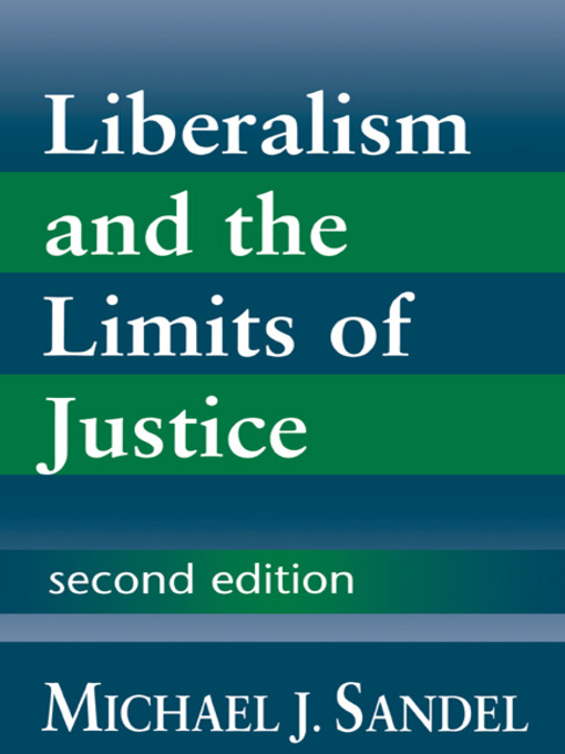 Liberalism and the Limits of Justice (eBook)