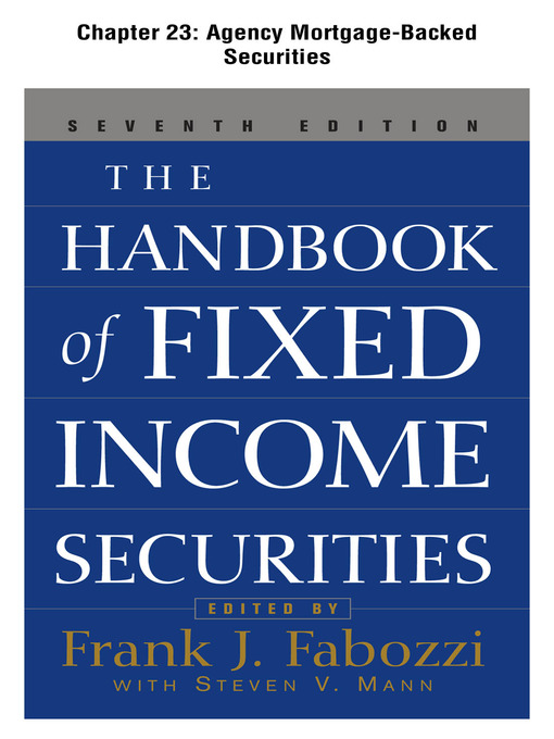 agency mortgage backed securities  a selection from the handbook of fixed