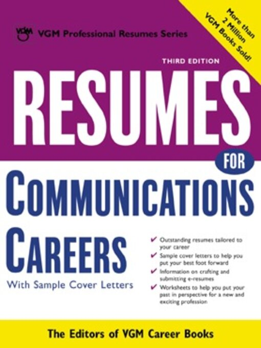 Resumes for Communications Careers With Sample Cover Letters