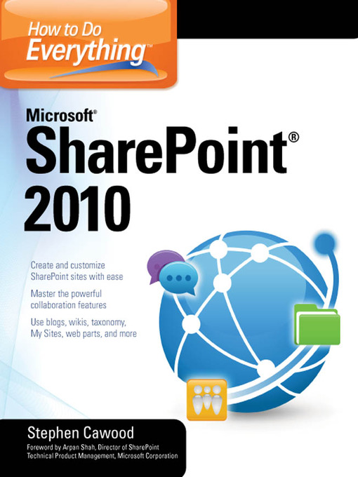 Cover image for How to Do Everything Microsoft® SharePoint® 2010