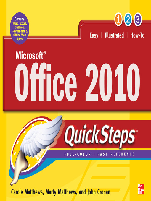 Cover image for Microsoft® Office 2010 QuickSteps