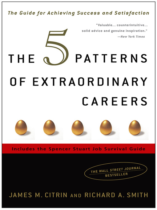 The 5 Patterns of Extraordinary Careers The Guide for Achieving Success and Satisfaction