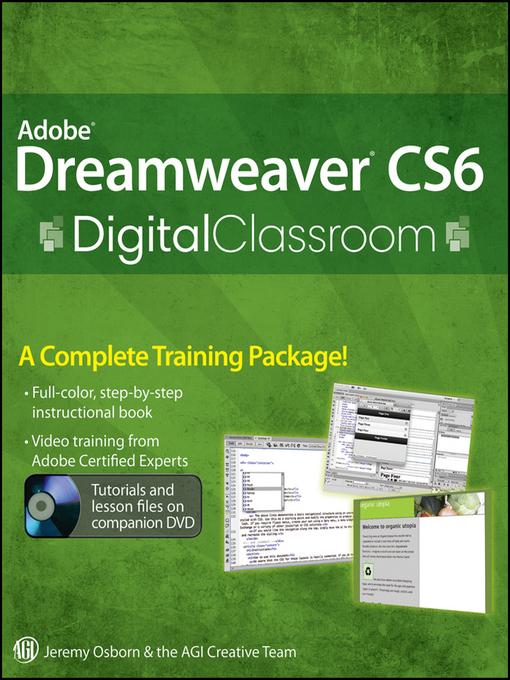 Adobe Dreamweaver CS6 Digital Classroom (eBook)
