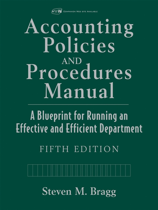 finance department policies and procedures manual