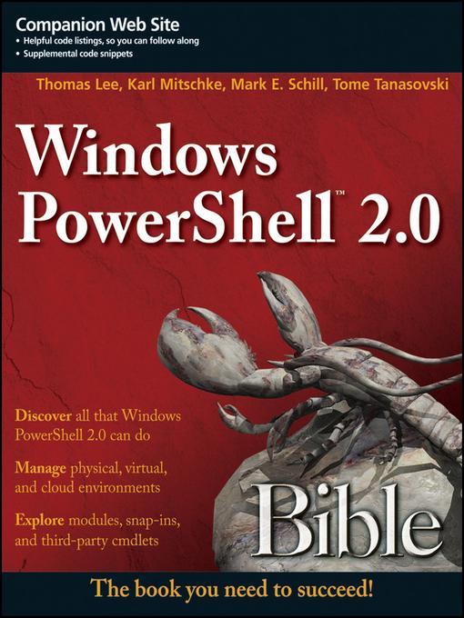 Windows PowerShell 2.0 Bible - Bible (eBook)
