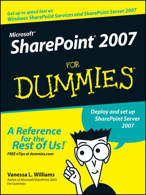 Microsoft SharePoint 2007 For Dummies (eBook)