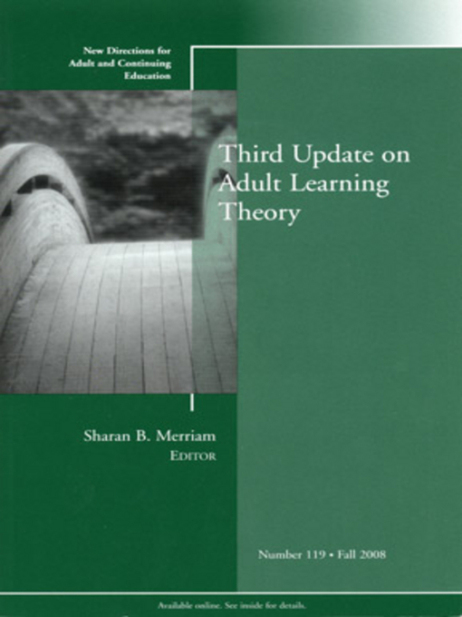 Third Update on Adult Learning Theory