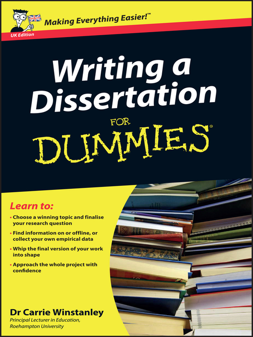 Best Book For Writing A Dissertation
