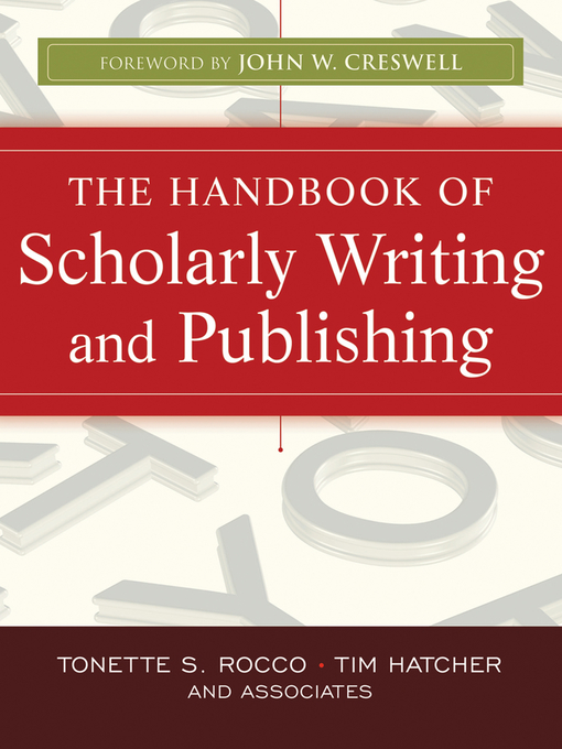 The Handbook of Scholarly Writing and Publishing (eBook)