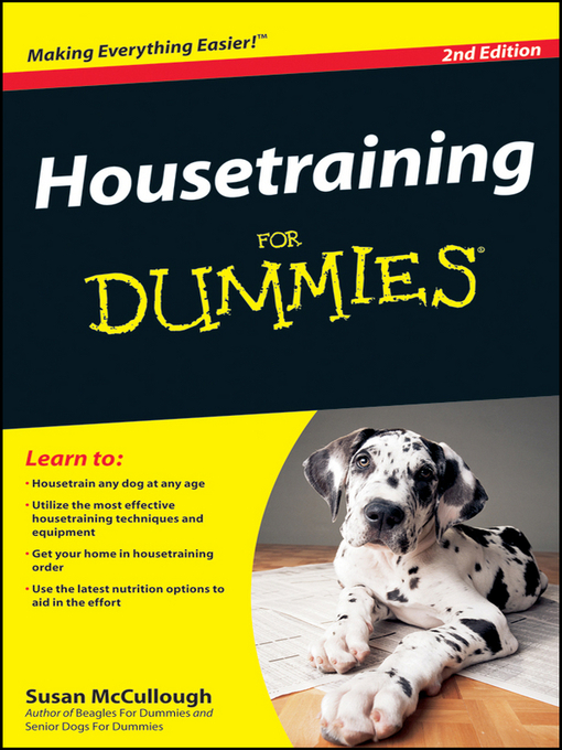Housetraining For Dummies (eBook)