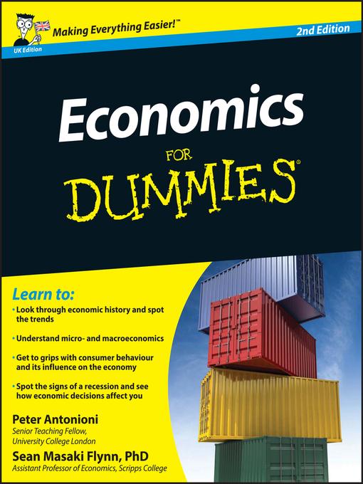 Economics For Dummies, UK Edition - Dummies (eBook)