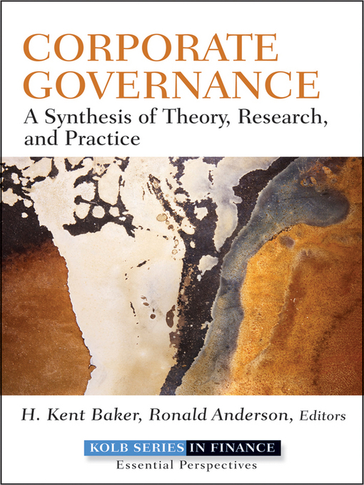 Corporate Governance (eBook): A Synthesis of Theory, Research, and Practice