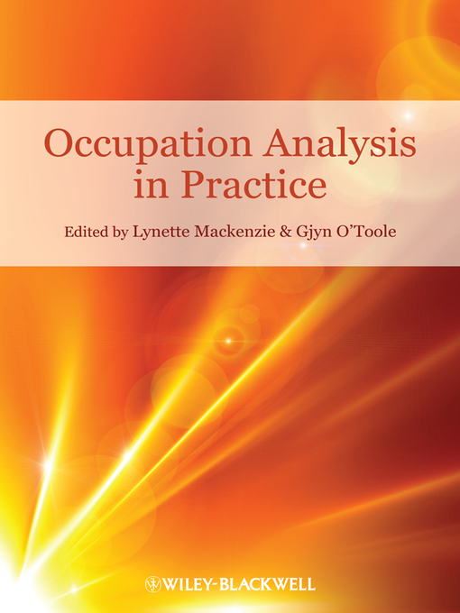 Occupation Analysis in Practice (eBook)