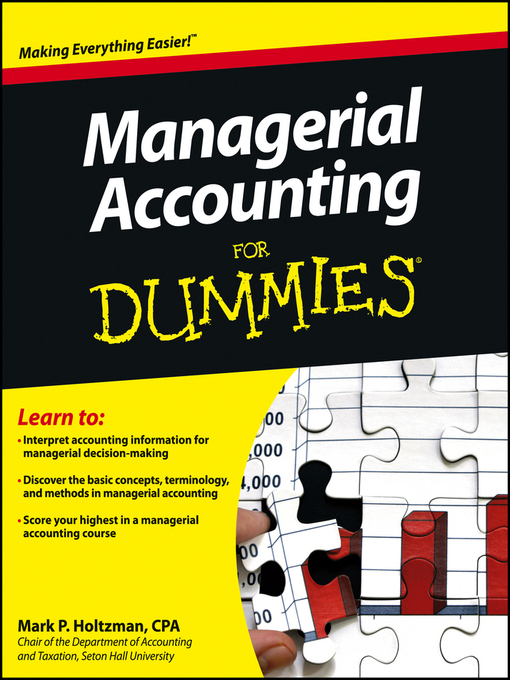 Managerial Accounting For Dummies (eBook)