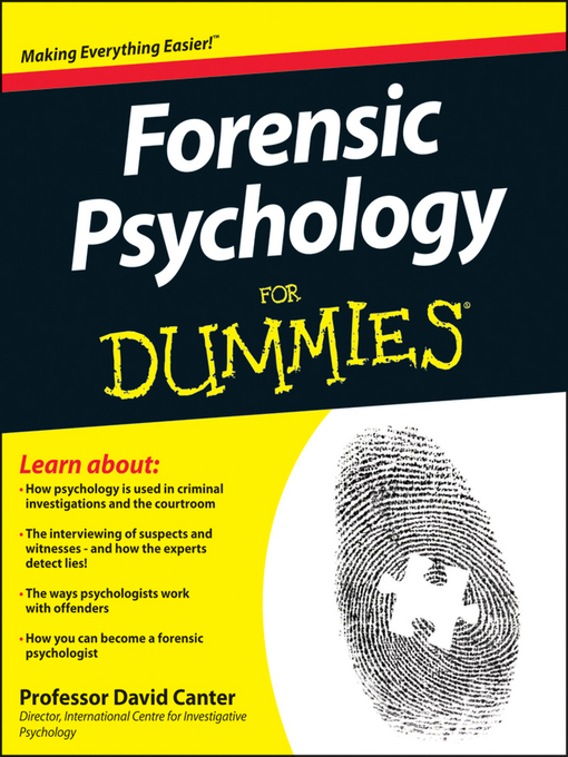 Forensic Psychology For Dummies (eBook)