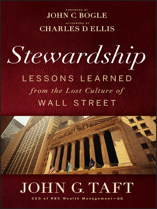 Stewardship (eBook): Lessons Learned from the Lost Culture of Wall Street