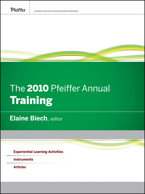 The 2010 Pfeiffer Annual (eBook): Training