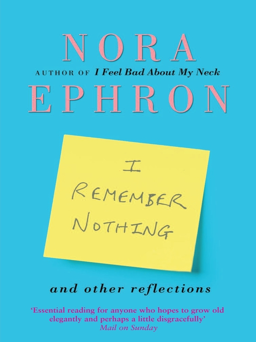I Remember Nothing and other reflections (eBook)