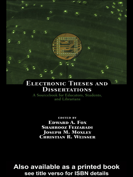 etd electronic thesis and dissertations