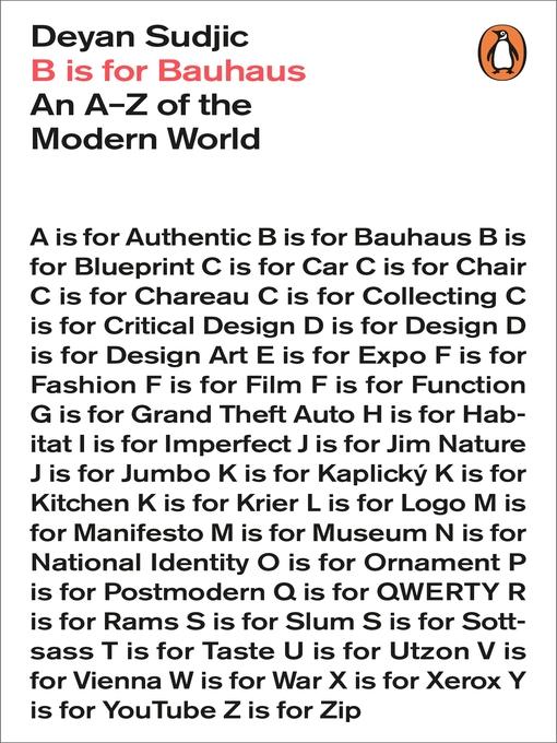 B Is for Bauhaus: An A-Z of the Modern World (eBook)