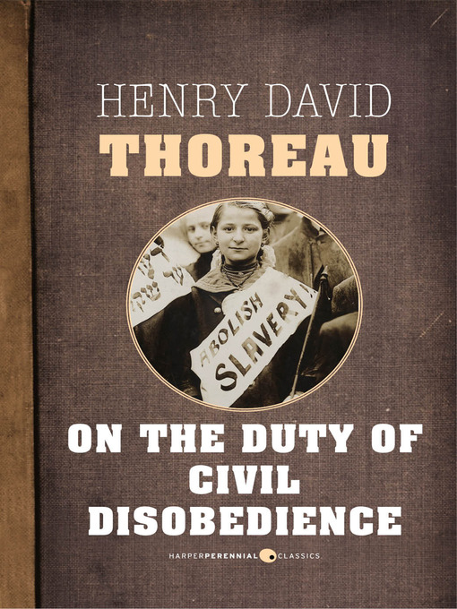 On the Duty of Civil Disobedience (eBook)