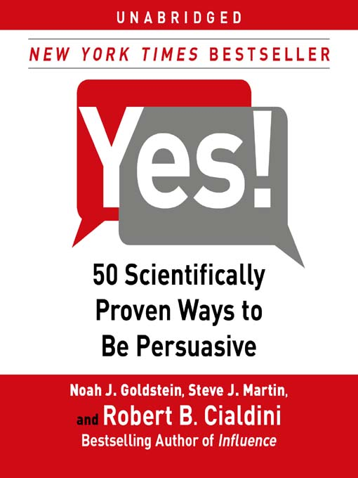 Yes! (MP3): 50 Scientifically Proven Ways to Be Persuasive