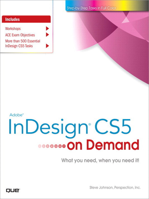 Adobe® InDesign® CS5 on Demand (eBook)