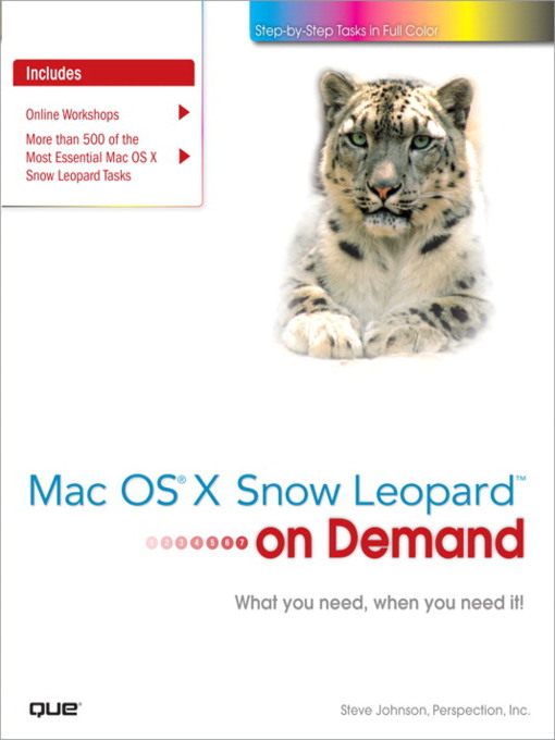 Mac OS X Snow Leopard On Demand - On Demand (eBook)