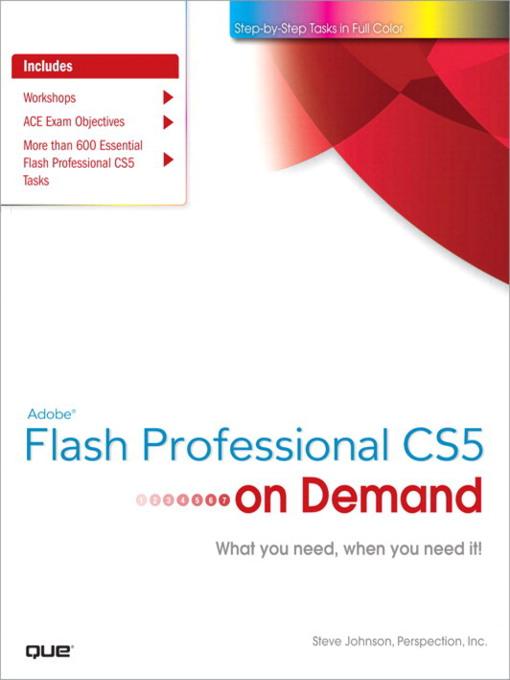 Adobe® Flash® Professional CS5 on Demand (eBook)