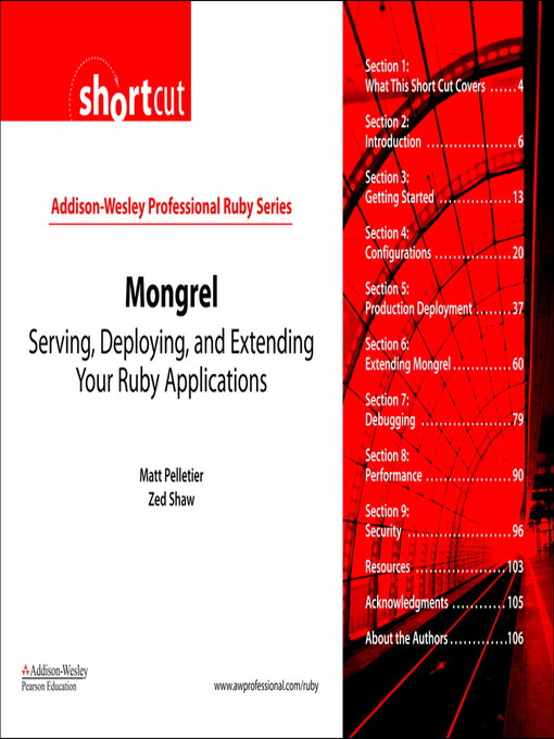 Mongrel (Digital Shortcut): Using CRUD and REST in Your Rails Application (eBook)