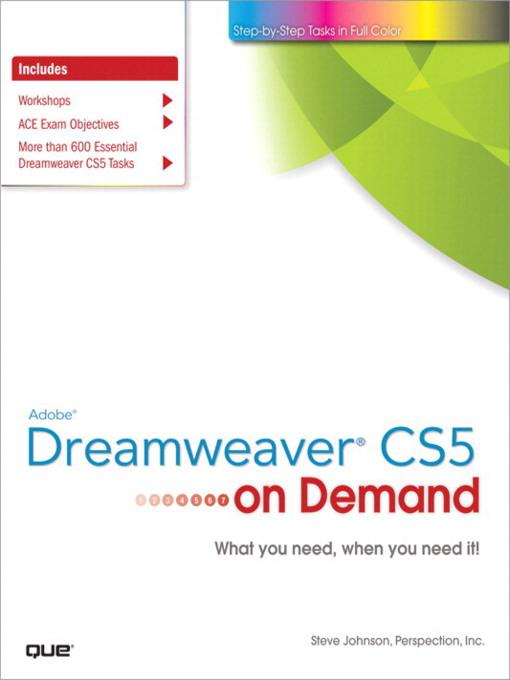 Adobe® Dreamweaver® CS5 on Demand - On Demand (eBook)