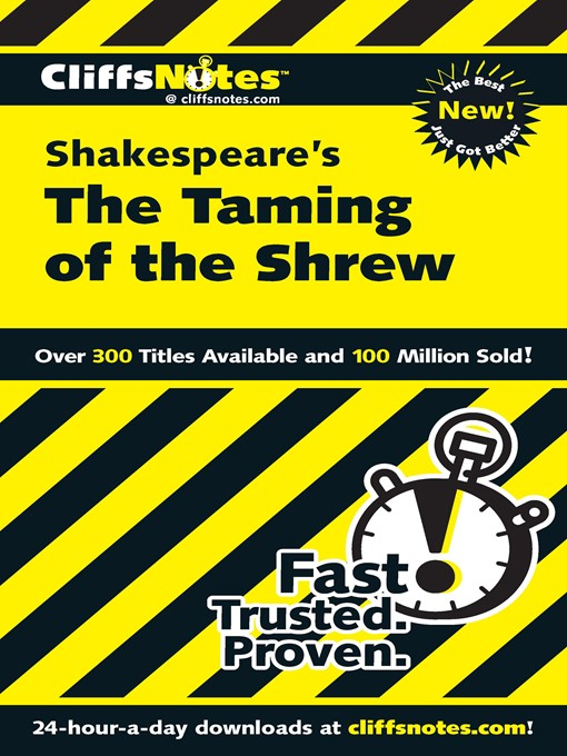 CliffsNotes on Shakespeare's The Taming of the Shrew (eBook)