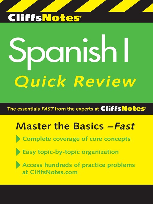 CliffsNotes Spanish I Quick Review (eBook)
