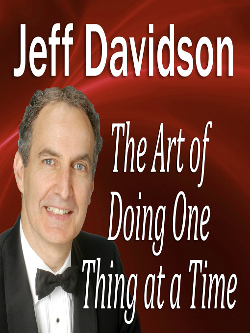 The Art of Doing One Thing at a Time (MP3)
