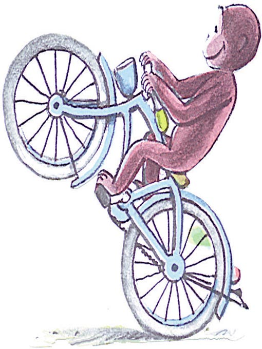 Cover image for Curious George Rides A Bike