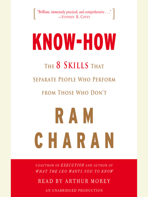 Know-How (MP3): The 8 Skills That Separate People Who Perform from Those Who Don't
