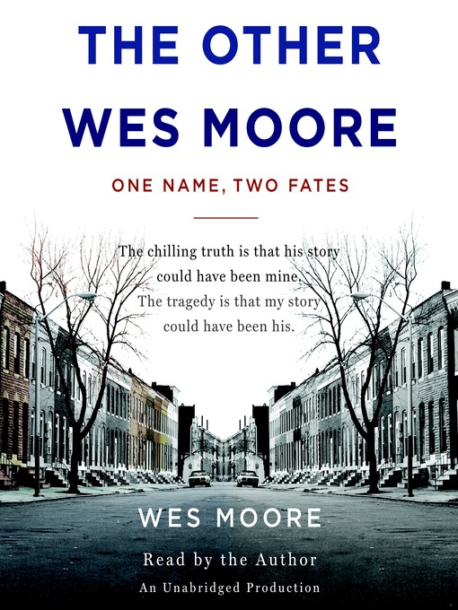 the other wes moore the impact The other wes moore: the impact of family many people would say we are all just products of our environment for two young boys from baltimore, this could not be truer.