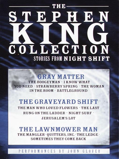 Stephen King Value Collection (MP3): Lawnmower Man; Gray Matter; Graveyard Shift