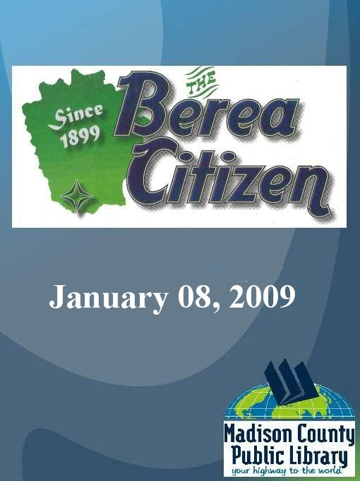 Cover image for The Berea Citizen 2009 01/08