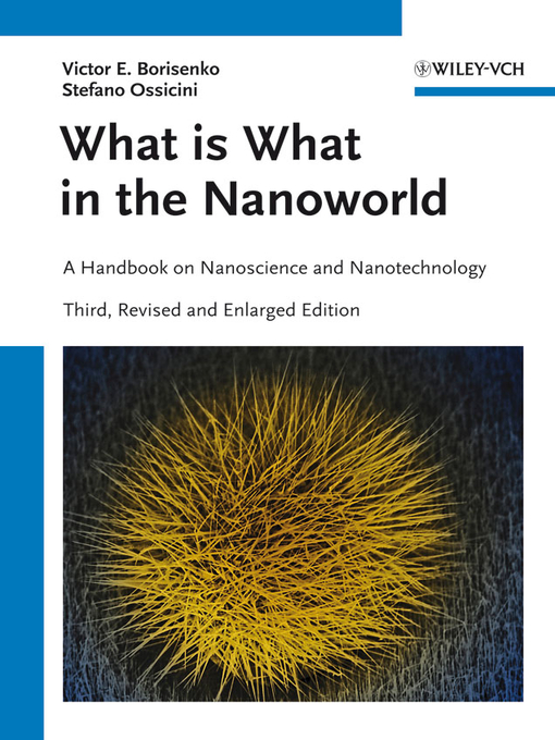 What is What in the Nanoworld (eBook): A Handbook on Nanoscience and Nanotechnology