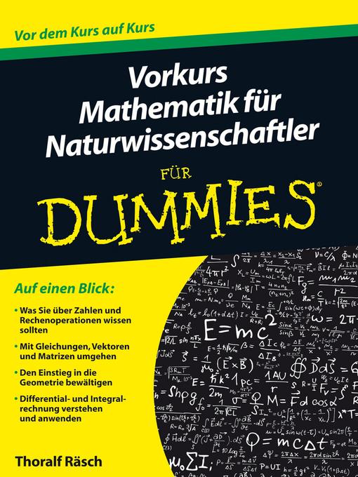Vorkurs Mathematik fÜr Naturwissenschaftler fÜr Dummies - FÜr Dummies (eBook)