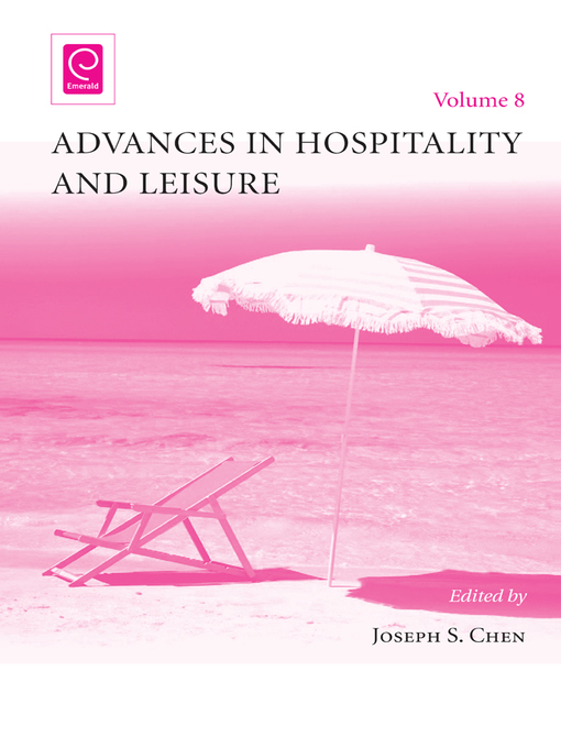 Advances in Hospitality and Leisure (eBook)