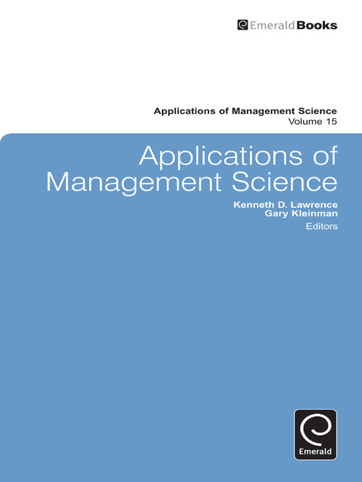 Applications of Management Science (eBook)
